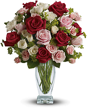 Cupid\'s Creation with Red Roses