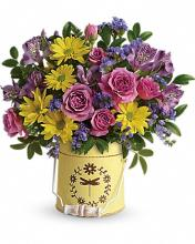 Teleflora\'s Blooming Pail Bouquet