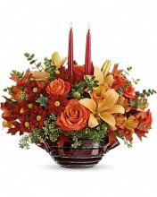 Teleflora\'s Autumn Gathering Centerpiece