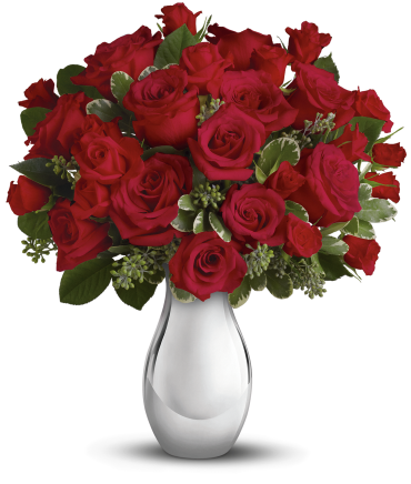 True Romance Bouquet with Red Roses
